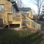 Added a wooden deck to an existing home.