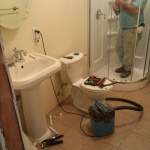 After image, bathroom transformation nearly complete.
